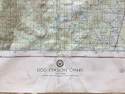 Details About Vintage Vietnam War Dod Evasion Chart Evc 500 1 Laos Thailand War Map Star Chart