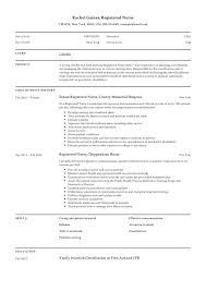 registered nurse resume sle