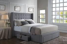 best bed frames 2017. Delighful 2017 DG Casa Melrose Gray Linen Wingback Storage Bed And Best Frames 2017 E