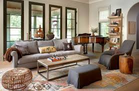 Mixed neutral color living room