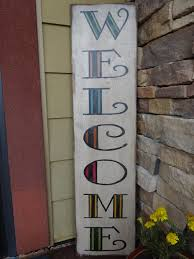 Wood Address Signs Outdoor Decor Welcome sign Hand painted wood sign Front door sign Outdoor 11