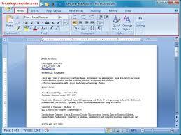 Resume On Microsoft Word 2007 Resume Template For Microsoft Word