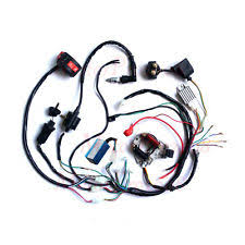 chinese 4 wheeler parts 50cc 70 90cc 110cc 125cc wire loom wiring harness cdi assembly atv quad coolster