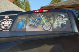 Custom Rear Window Graphics Rear Window Graphics Vinyl Pinstriping