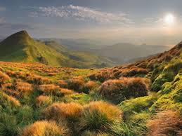 grass field background. Grass Field And Mountain Background Wallpaper D