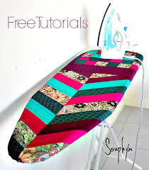 Quilted Herringbone Ironing Board Cover - Free Pattern by Seraphym ... & chevron quilted ironing board tutorial Adamdwight.com