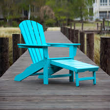 Chair Furniture Polywood Adirondack Chair In Grey With Unique Side