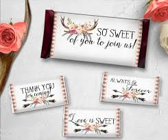 personalized chocolate bar wrappers 48 personalized candy wrapper supplies wedding chocolate bar