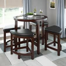 racks wonderful tall round dining table 8 decorating kitchen chairs breakfast for round tall dining room