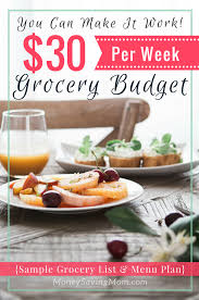 Is It Possible To Survive On A $30 Per Week Grocery Budget? - Money ...