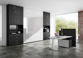 color schemes for home office. Modern Home Office Design With Black And White Color Schemes Also Using Brick Wall Decor Ideas For A