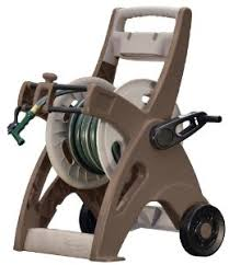 garden hose reel cart. Suncast 175-Foot Capacity Hosemobile Garden Hose Reel Cart, Bronze/Taupe JTT175B By Cart