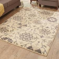 captivating better homes and gardens area rugs cream fl vine rug throughout 5x7 curtain