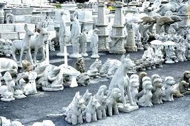 angel lawn ornaments pats concrete s white marsh still open deer statues garden for yard ornament