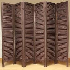 wooden slat room divider screen   panel  brown – room dividers uk