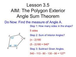 exterior angle formula for polygons. lesson 3.5 aim: the polygon exterior angle sum theorem formula for polygons