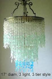 sea glass lighting fixtures sea glass chandelier lighting fixture coastal decor blue beach glass beach glass
