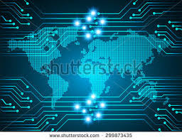 Background For Computer Vector Digital Global Technology Concept Abstract Background