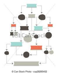 Flow Chart Diagram Scheme Simply Editable Without Text Infographic Algorithm Element