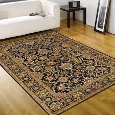 rugsville farsh persian black wool rug 10546