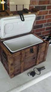 wood cooler chest pirate treasure chest cooler out of 13 pallets