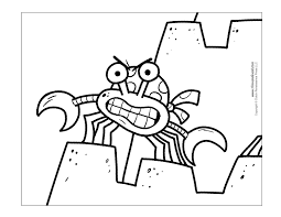 Small Picture Awesome Sebastian Crab Coloring Pages Images Printable Coloring
