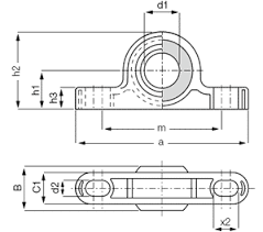 pillow block bearings dimensions. pillow block bearing ksti bearings dimensions u