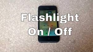 Turn On Light Flashlight How To Turn The Led Light Flashlight On And Off Iphone 4s 5 5c 5s
