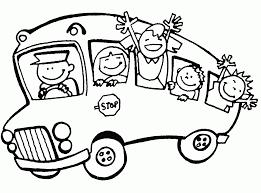 Coloriage De Moyen De Transport Autobus Ou Autocar L