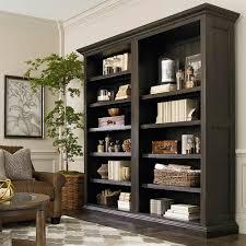 tall single open bookcase brown  bassett home furnishings