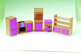 Dolls House Kitchen Furniture Le Wooden Toy Dolls House With Furniture