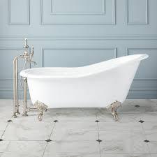 callaway cast iron slipper clawfoot tub  imperial feet  bathroom