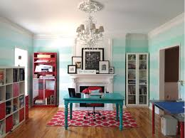 girl s room blue striped accent walls