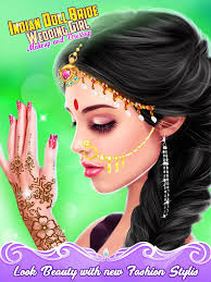 indian doll bride wedding makeup and dressup dreamtown game 0