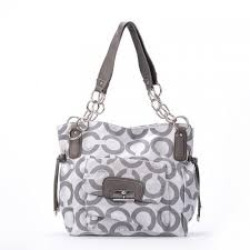Coach Chelsea Lock Signature Medium Grey Totes EXQ
