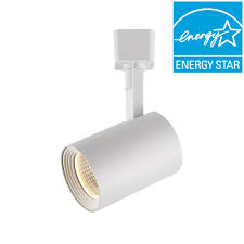 hampton bay white dimmable led cylinder track lighting head