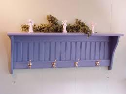 Decorative Coat Rack With Shelf Magnificent Interior Design Country Blue Coat Rack Wall Shelf Decorative Hooks