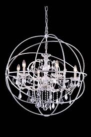 dazzling orb chandelier that enliven your home urban classic 6 light orb chandelier with crystal