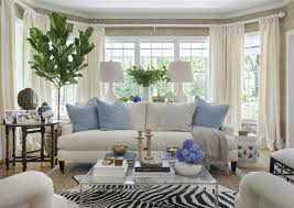 decorating with animal hides blue and white living