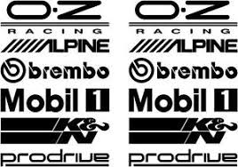 image is loading 12 black car door stack sponsor logo stickers