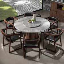 modern round granite marble dining table and chairs set with luxurious nice 5
