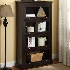 interesting small glass door bookcase 60 inch tall bookcase black bookcase with glass door