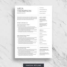 Clean Professional Resume Minimalist Resume Template For Word Professional Resume
