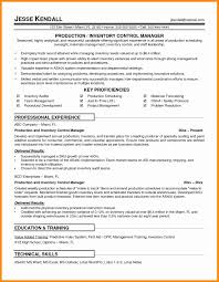 Inventory Control Resume Striking Clerksume Opening Statements