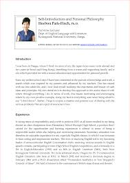 Personal Introduction Letter Template Mediafoxstudio Com