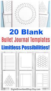 Journal Templates 20 Bullet Journal Template Printables Bullet Journal