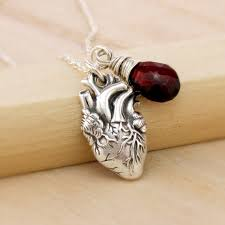 anatomical heart necklace anatomically