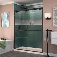 frameless bypass shower doors oil rubbed bronze. dreamline encore 56 in. to 60 x 76 frameless bypass shower door in oil rubbed bronze-shdr-1660760-06 - the home depot doors bronze