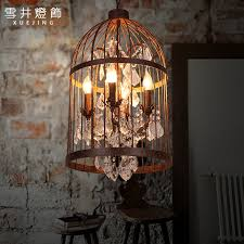 get ations american country retro birdcage chandelier personalized art based accountant crystal lamp chandelier bar restaurant lights stair