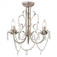 odelia 3 way ceiling fitting gold on